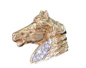 Pin caballo personalizado en oro